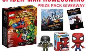 Spider-Man: Homecoming Prize Pack Giveaway #SpiderManHomecoming #TheHoppingBloggers  (Ends 7/14)