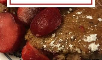 Strawberry Rhubarb Bars #12daysof