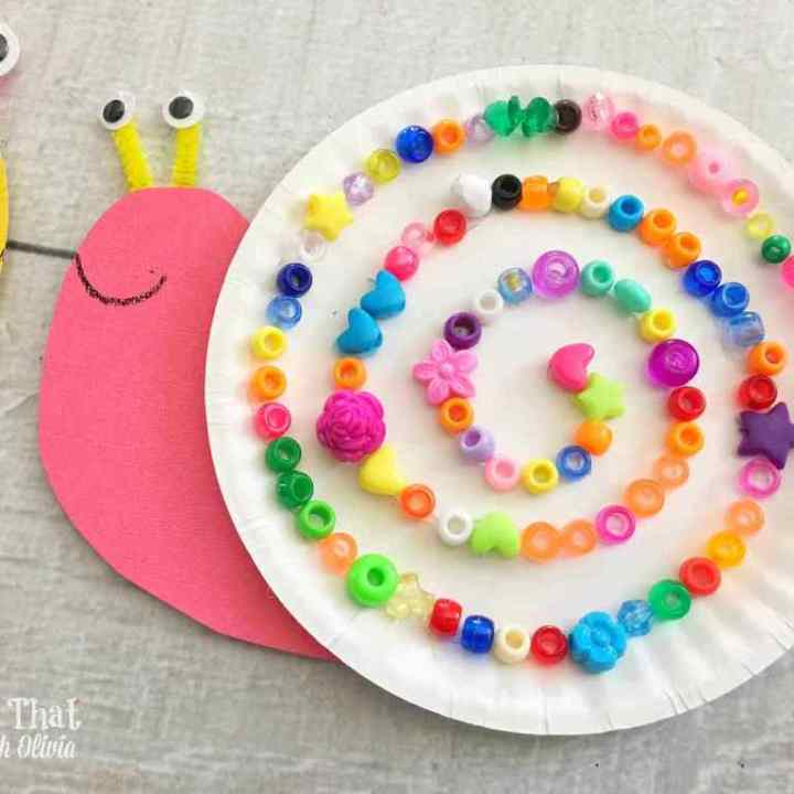 Paper Plate Snails Craft for Kids - This N That with Olivia