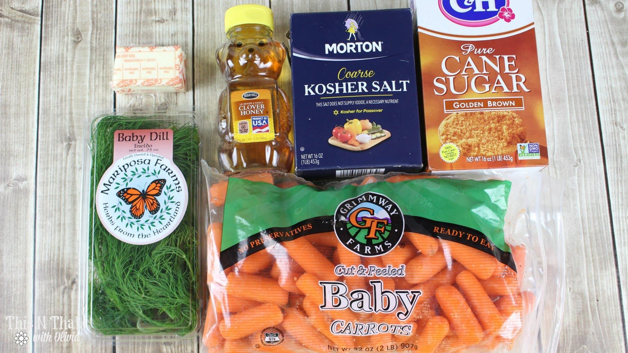 Honey and Brown Sugar Glazed Crockpot Carrots