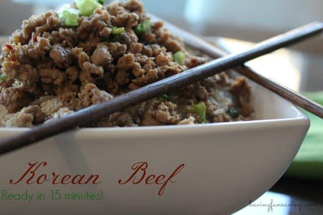 Easy Korean Beef #EasyDinners
