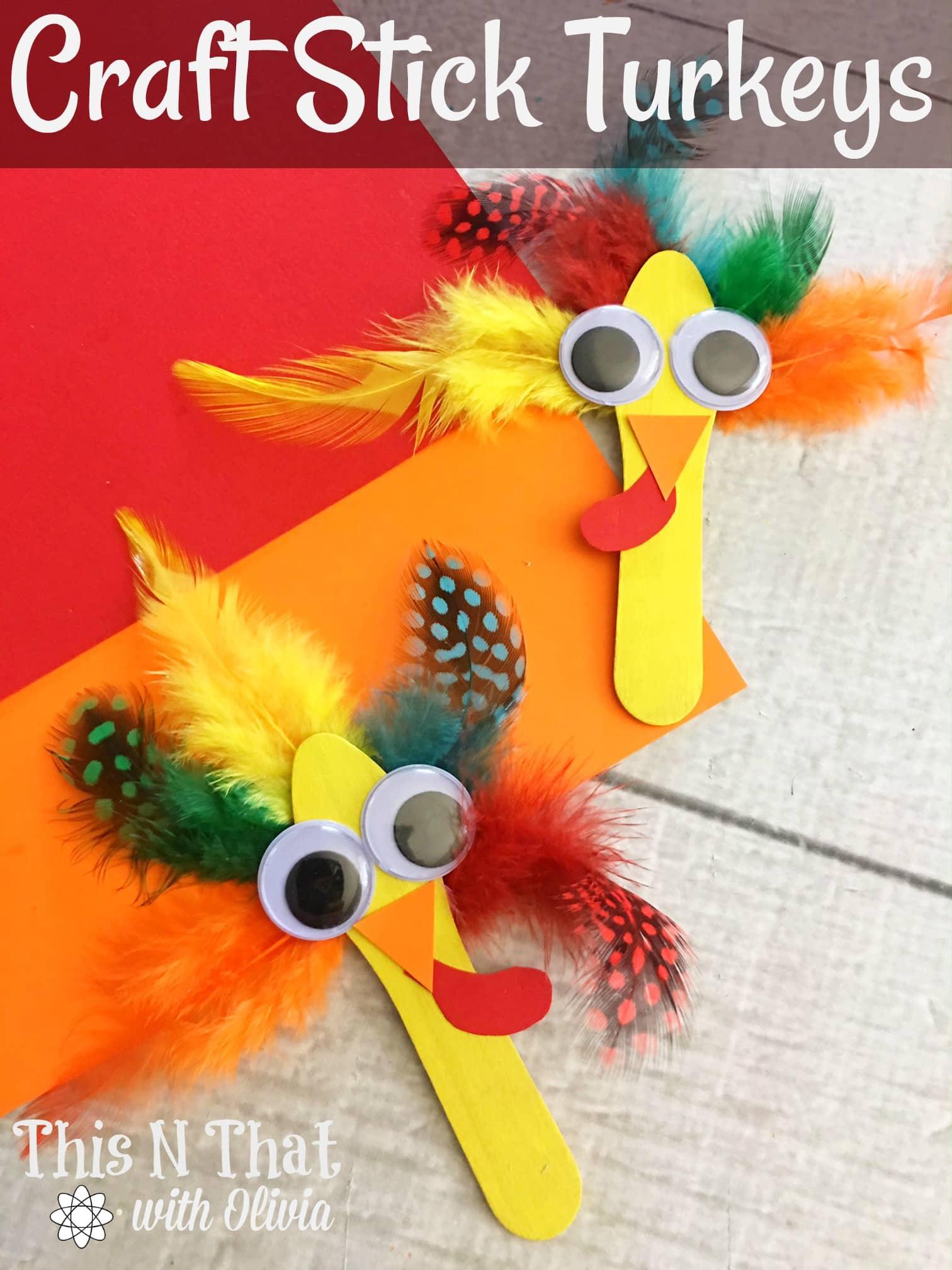 Craft Stick Turkeys
