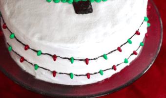 Christmas Lights Cake #ChristmasSweets