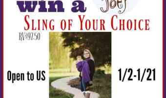 Comfy Joey Ring Sling Giveaway (Ends 1/21)