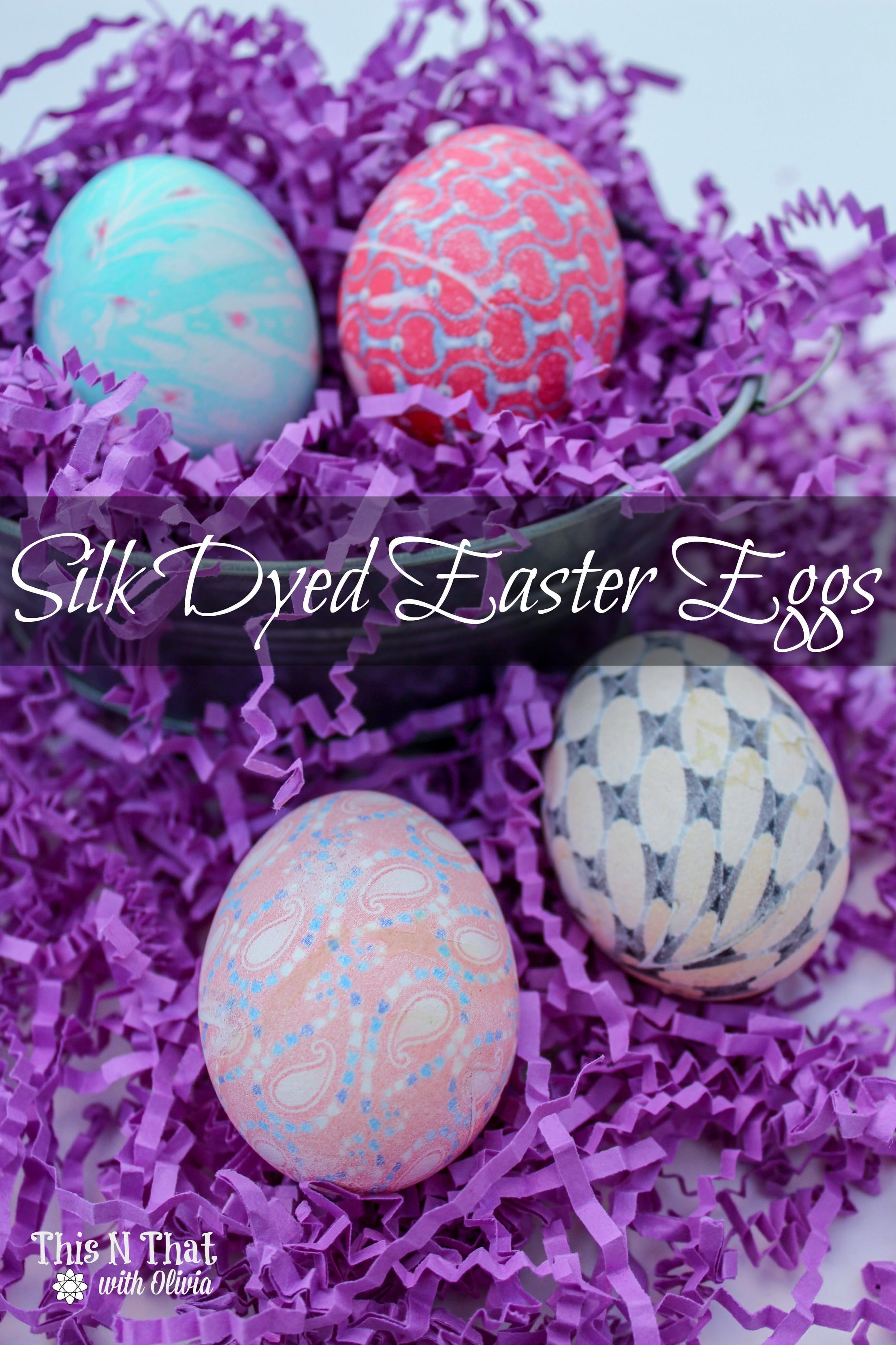 DIY Easy Silk Dyed Easter Eggs