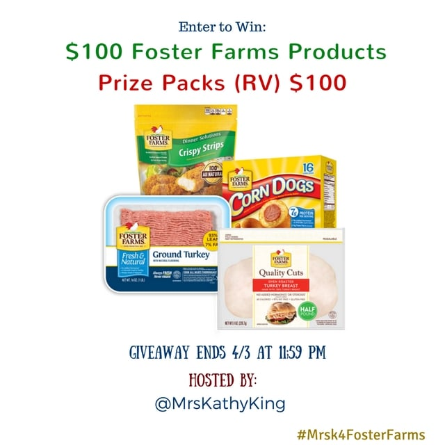 Enter to Win a $100 Foster Farms Products Prize Pack (Ends 4/3)