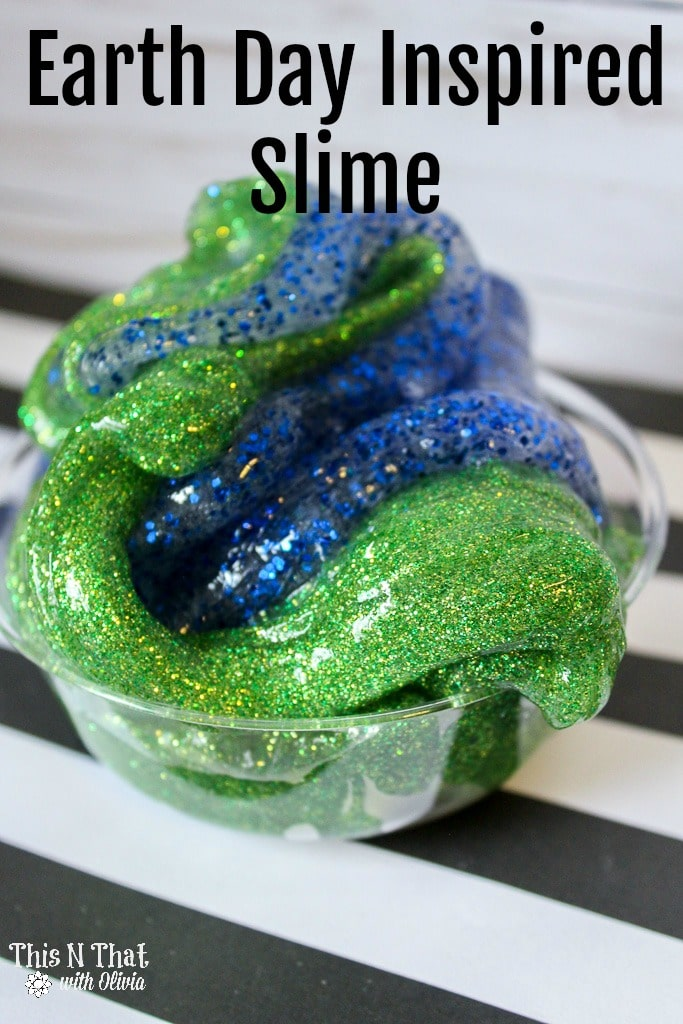 DIY Earth Day Inspired Slime #EarthDay