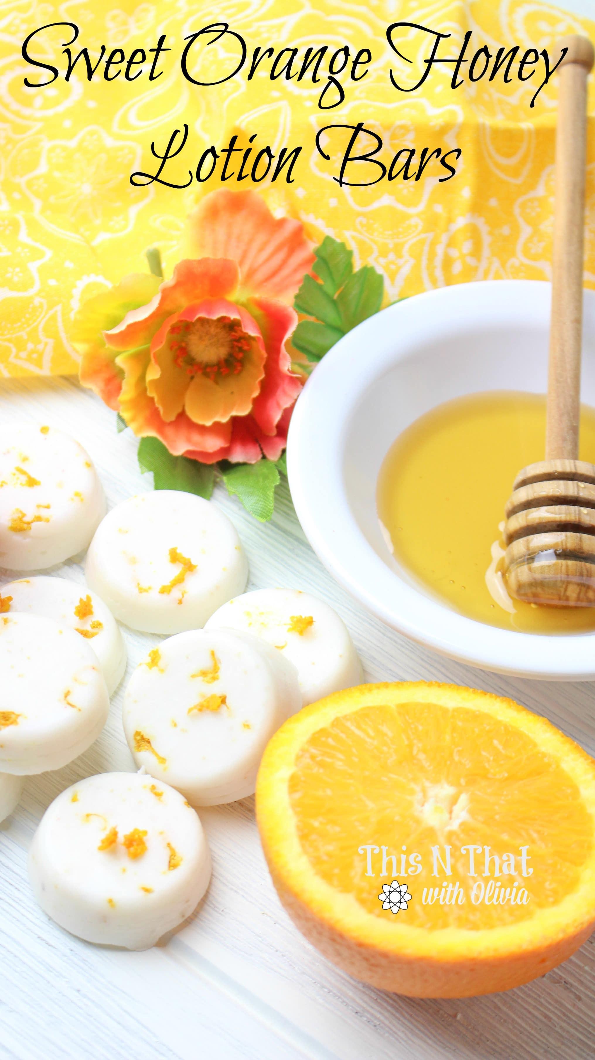 Sweet Orange Honey Lotion Bars