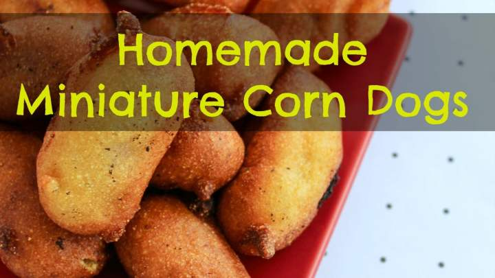 Homemade Miniature Corn Dogs