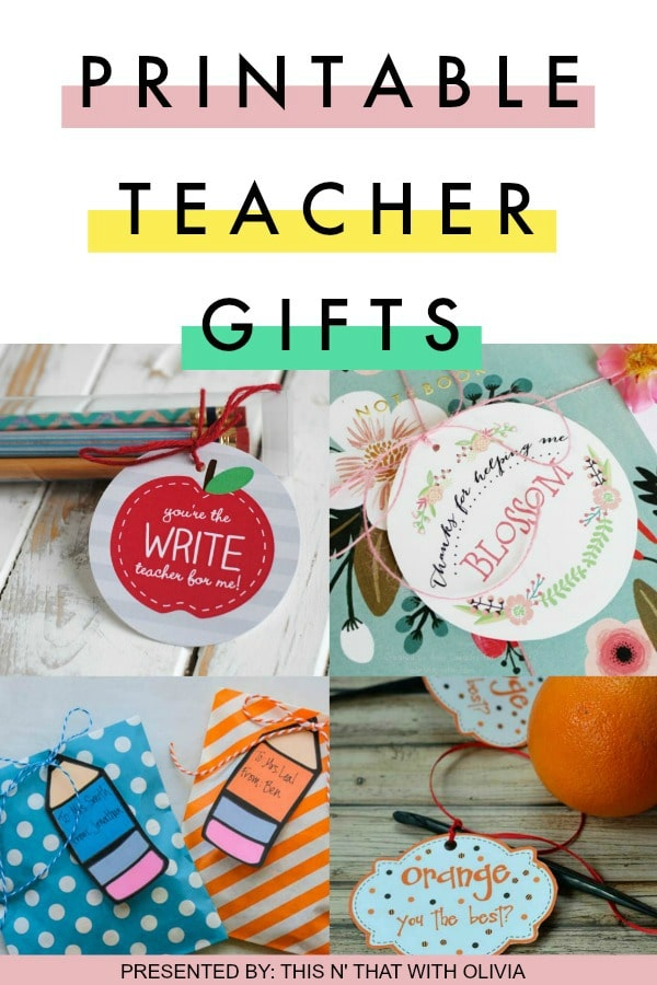12 Printable Teacher Appreciation Gifts
