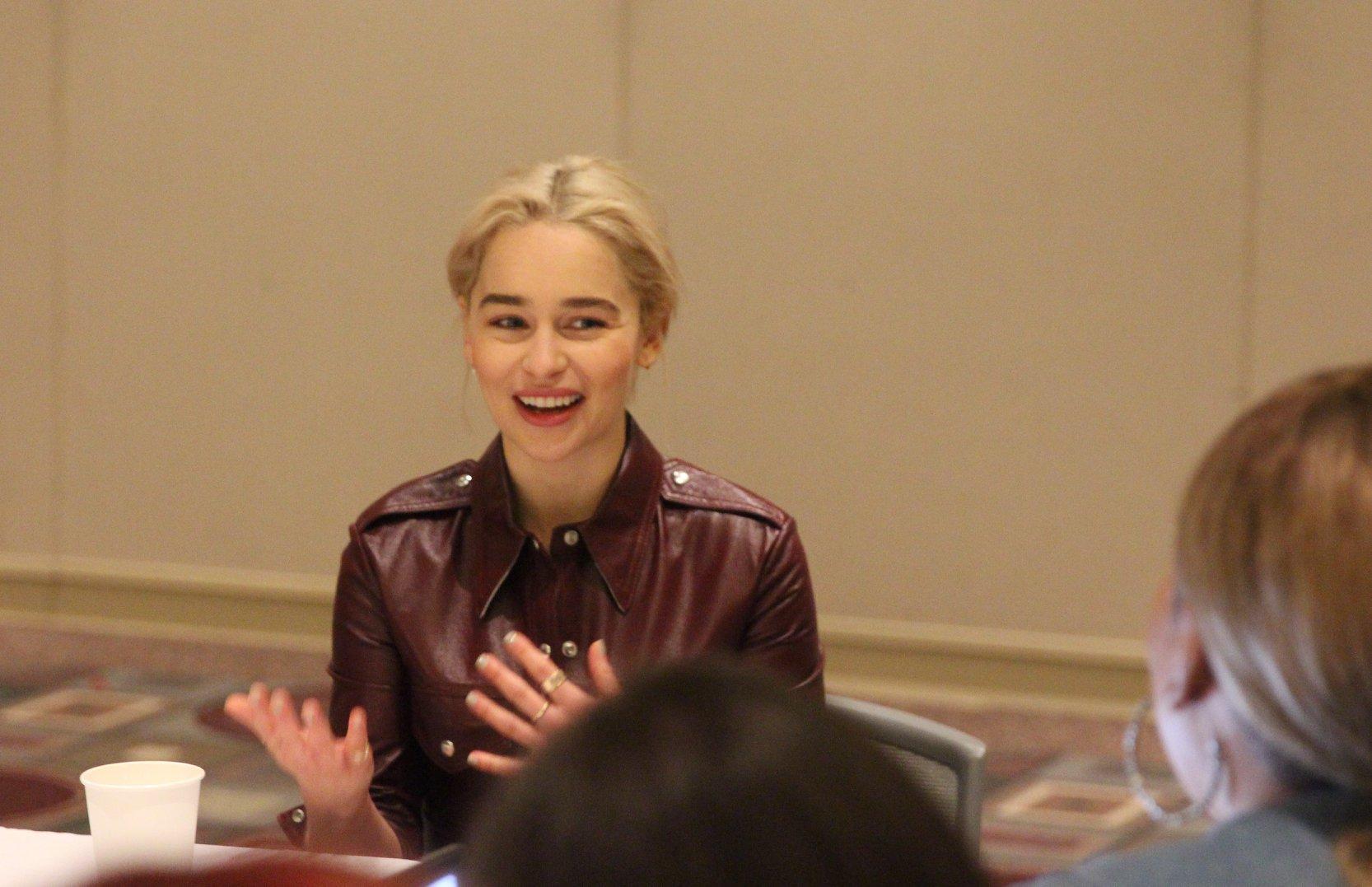 "Interview with Emilia Clarke ""Qi'Ra"" #HanSoloEvent #HanSolo #EmiliaClarke"
