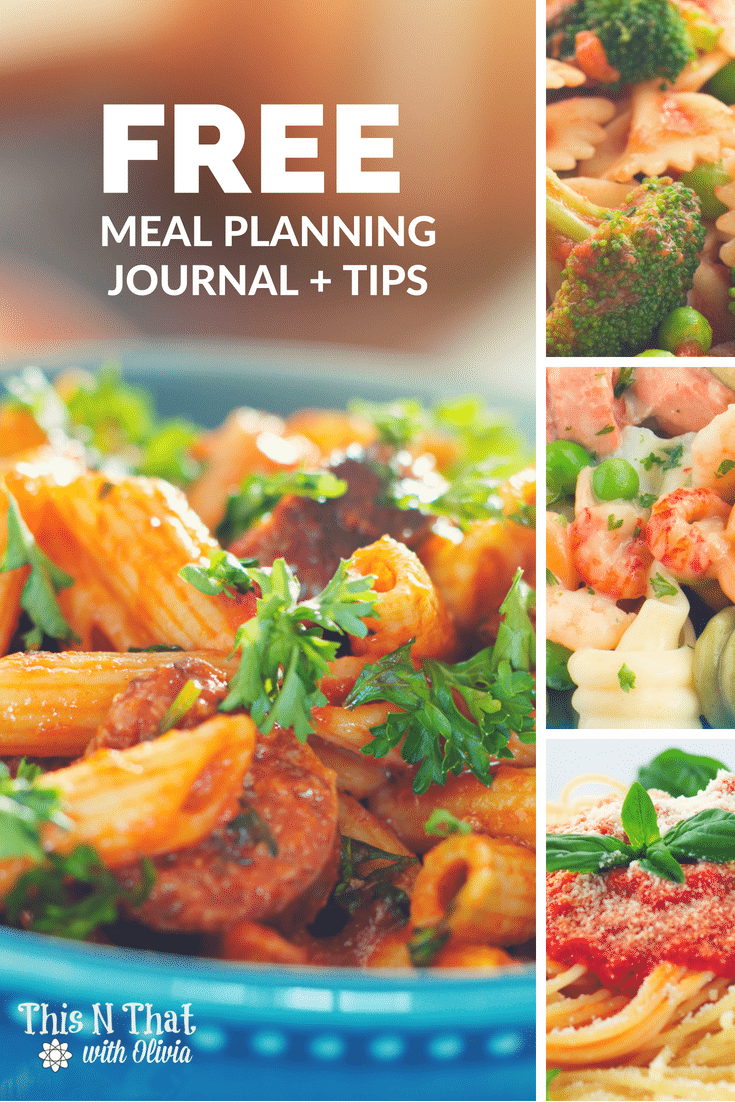 FREE Printable Meal Planning Journal #MealPlanning