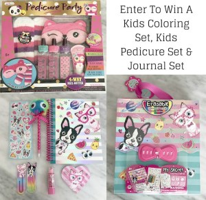 Enter to Win a Kids Coloring Set, Pedicure Set and Journal Set (Ends 7/9)