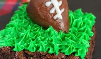 Homemade Football Brownies!