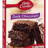 Betty Crocker Baking Mix, Dark Chocolate Brownie Mix, Family Size, 19.9 Oz Box