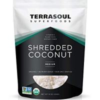 Terrasoul Superfoods Organic Shredded Coconut (Medium), 1 Pound