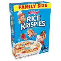 Kellogg's Rice Krispies Breakfast Cereal, Original, Fat-Free, Family Size, 24 oz Box