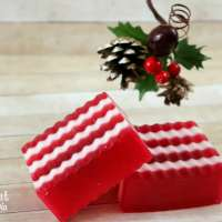 Homemade Layered Candy Cane Soaps
