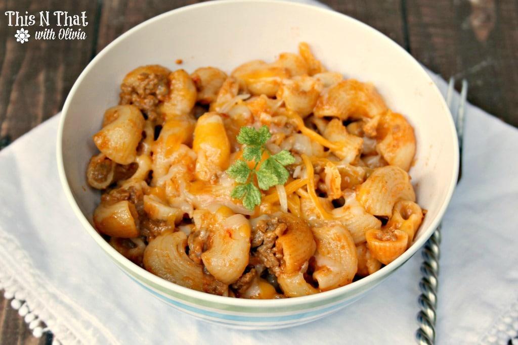 Instant Pot Cheeseburger Macaroni Casserole