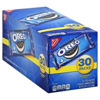 Oreo Chocolate Sandwich Cookies - 30 Snack Packs (120 Cookies Total)