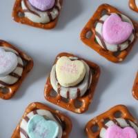 Valentine's Day Conversation Heart Pretzels