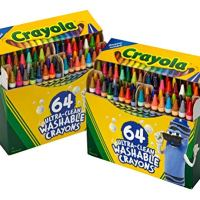 Crayola 64ct Ultra Clean Crayons, 2 Pack, Multicolor