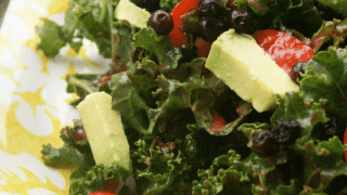 Chili and Wild Blueberry Salad with Raspberry Lime Vinaigrette