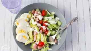 The Perfect Cobb Salad with Homemade Dressing