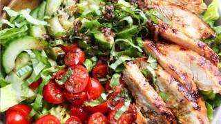 Tomato-Basil Grilled Turkey Breast Salad (Whole30)