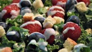 Red, White, And Bleu Kale Salad Recipe