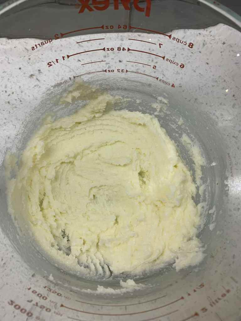 Butter and sugar for strawberry muffins