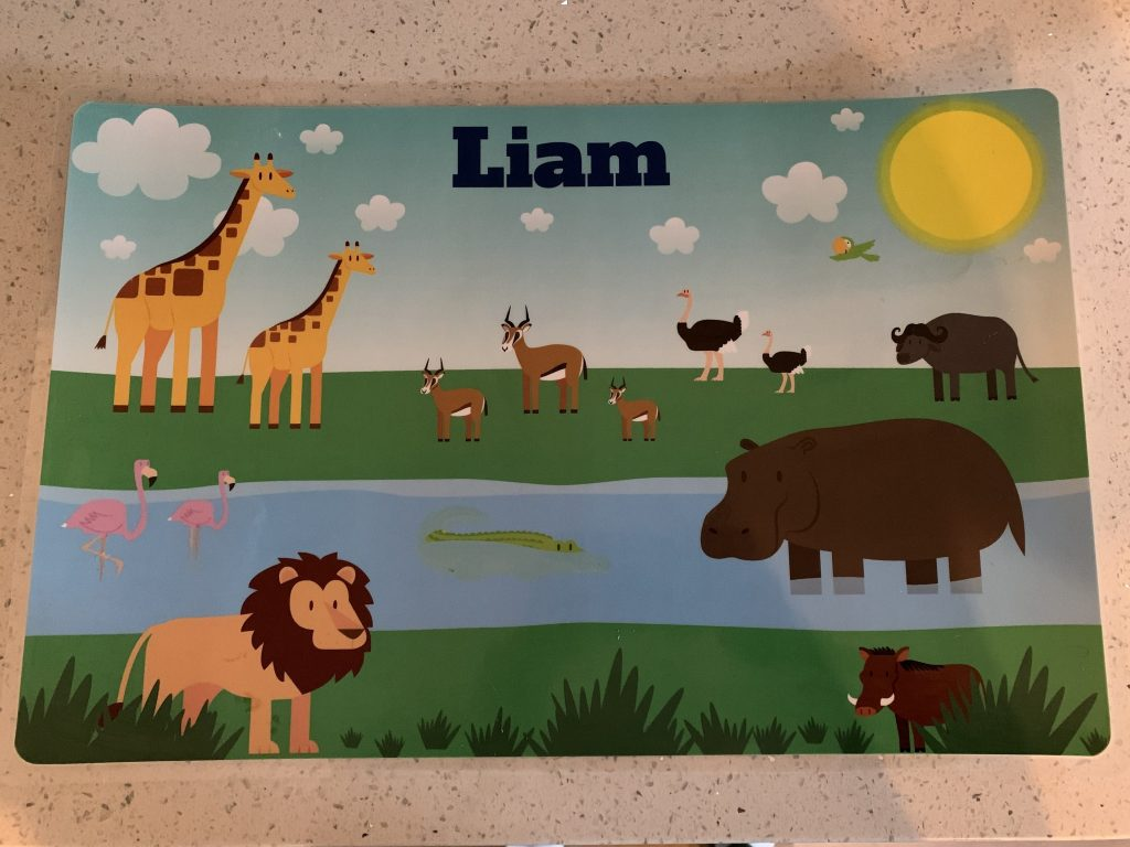 Placemat for Liam