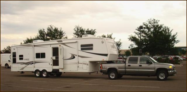 Picture of camper and truck