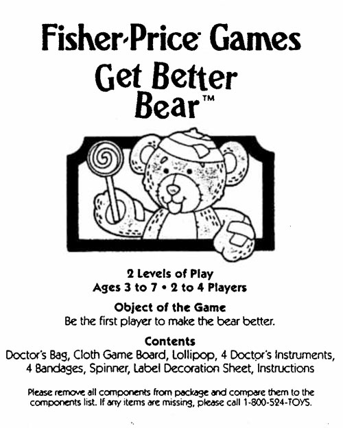 #8854 Fisher-Price Games