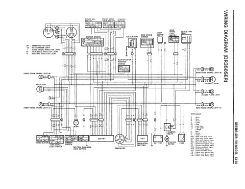 small resolution of wiring diagram for the dr350 se 1994 and later models suzuki zx7r wiring