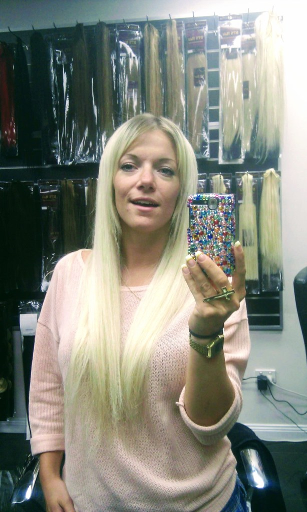 platinum blond extensions