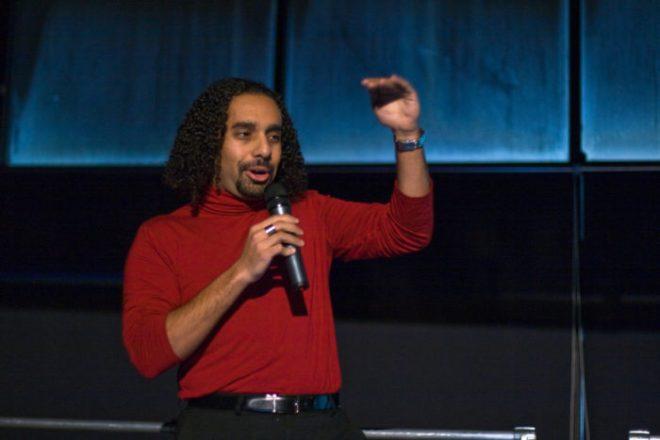 Ramez Naam at Ignite Seattle, 2008; Photo by Randy Stewart.