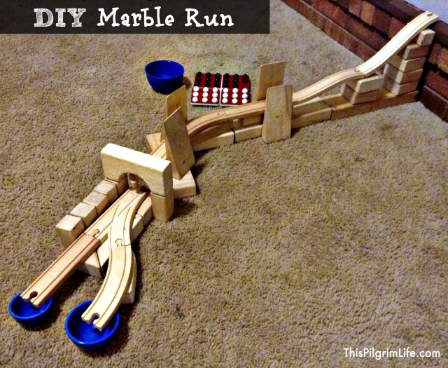 ... at home, here are a few more marble run ideas with household items