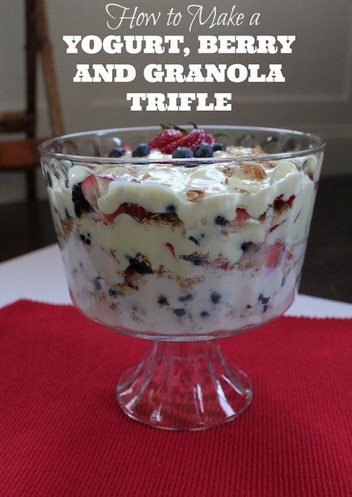 Yogurt, Berry and Granola Trifle