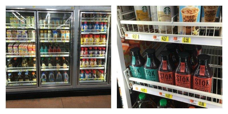 Stok Iced Coffee on Walmart Shelf
