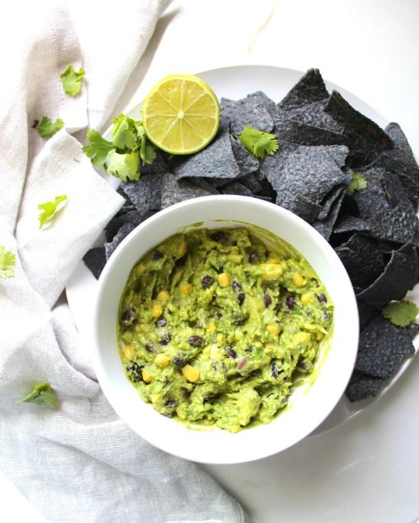 This Black Bean + Corn Guacamole is hearty and healthy   VEGAN + GF   ThisSavoryVegan.com