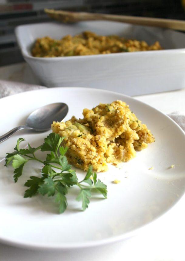 Have a delicious Thanksgiving with this Vegan Cornbread Dressing   ThisSavoryVegan.com