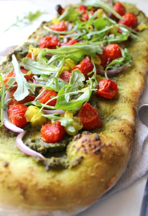 Mediterranean Flatbread   ThisSavoryVegan.com
