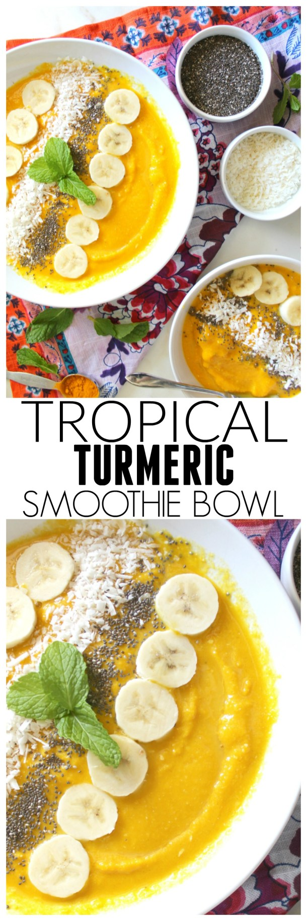 Tropical Turmeric Smoothie Bowl | ThisSavoryVegan.com