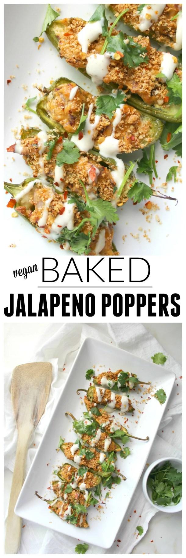 Vegan Baked Jalapeno Poppers | ThisSavoryVegan.com