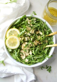 Quick, hearty and super healthy - this Quinoa Arugula Salad with Lemon Thyme Dressing is going to be your new favorite salad   ThisSavoryVegan.com