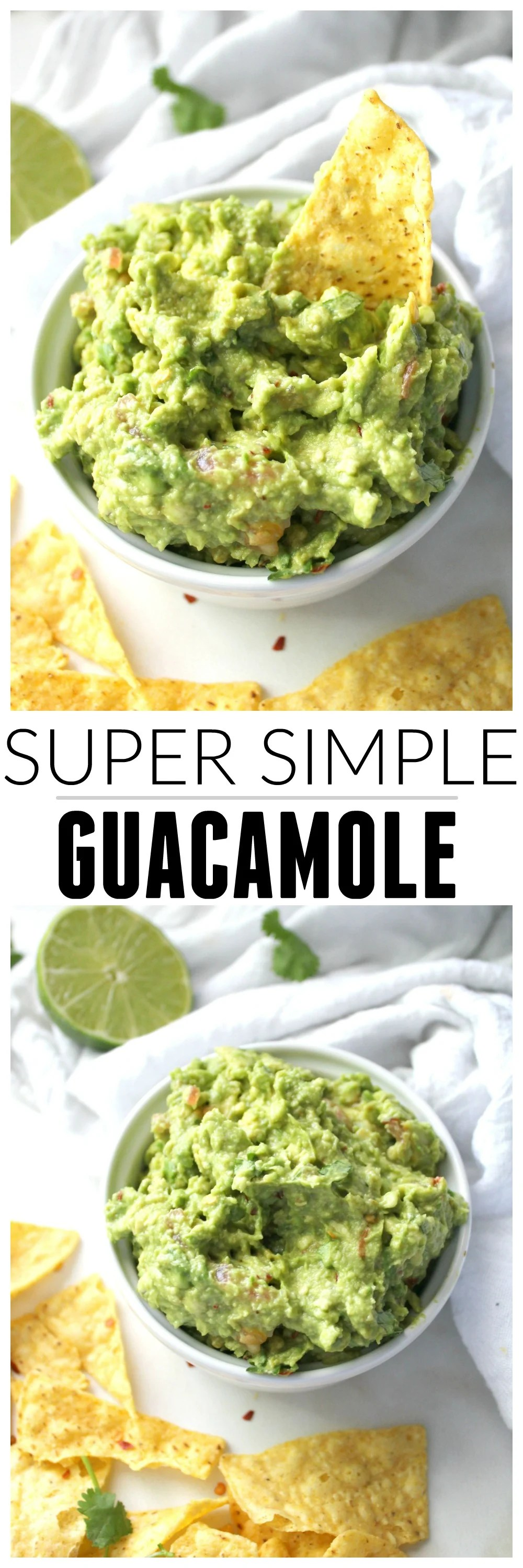 Who said guac needs to be complicated? This Super Simple Guacamole is quick, delicious and doesn't require any crazy ingredients! | ThisSavoryVegan.com