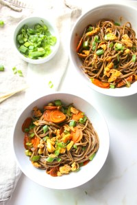 These Sesame Soba Noodles with Crispy Tofu are quick, easy and tasty. A satisfying meal that will have you coming back for more   ThisSavoryVegan.com