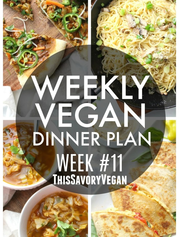 Weekly Vegan Dinner Plan #11