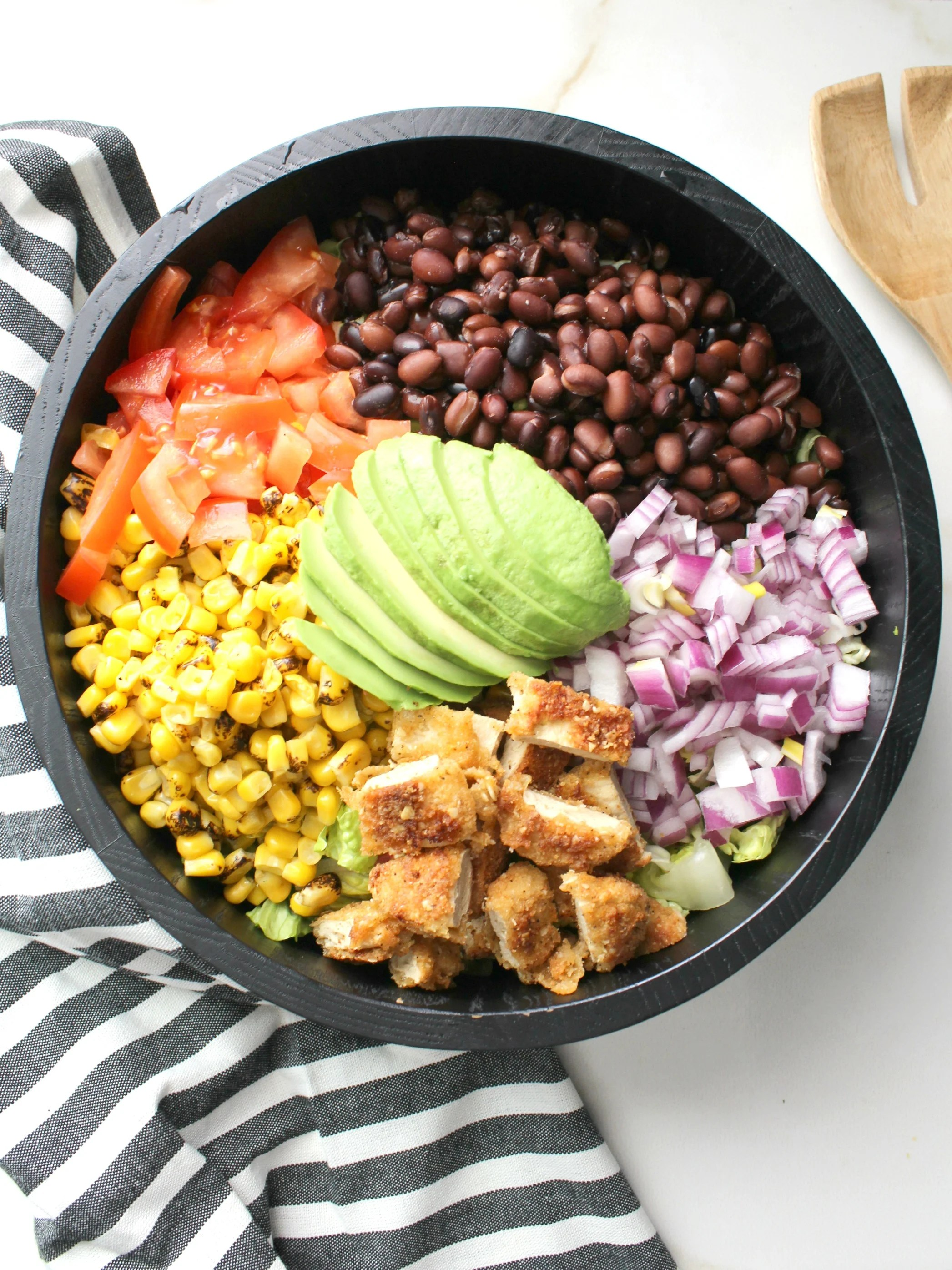 Vegan Chicken Taco Salad With Jalapeno Popper Quesadillas This